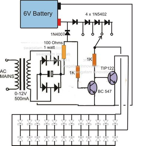 led circuits diagrams 12v emergency led circuit circuit diagram images