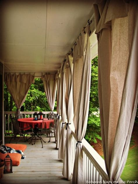 diy porch curtains drop cloth curtains for a porch add privacy and sun control