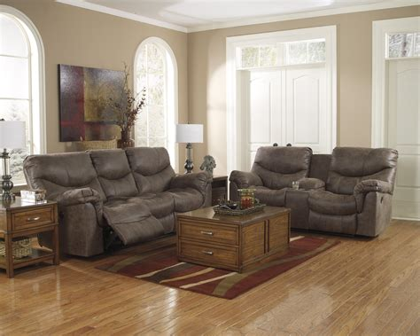 ashley furniture living room buy ashley furniture alzena gunsmoke powered reclining living room set bringithomefurniture com