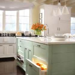 green and white kitchen