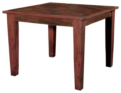Square Rustic Dining Table by Sheesham Solid Wood Square Dining Table 58 Inch Rustic