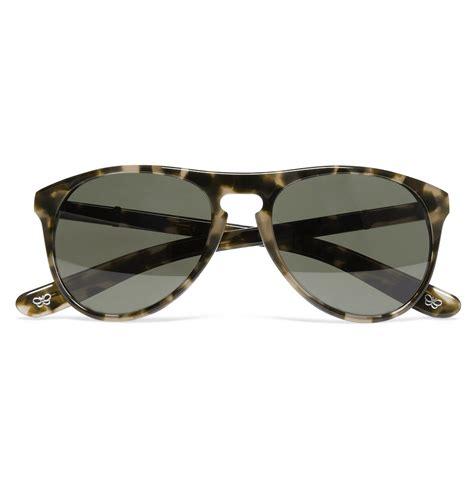 Tortoiseshell Sunglasses by Lyst Bottega Veneta Tortoiseshell Aviator Sunglasses For