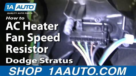 fix ac heater fan speed resistor dodge stratus