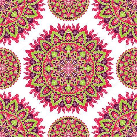 colorful mandala pattern of bright colorful mandala stock vector