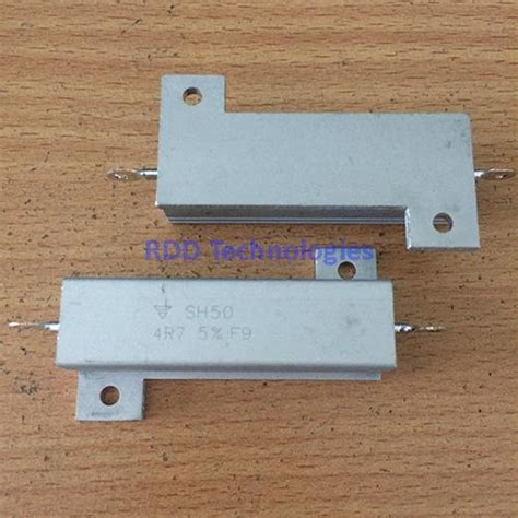 chassis mount resistors chassis mount resistor 4 7 ohm 50w 5 sh504r700js03 rdd technologies
