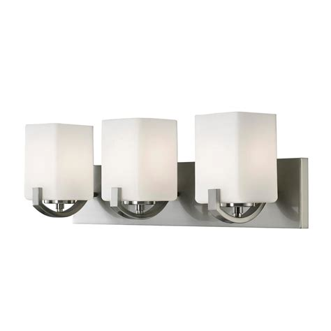 1000 images about lighting bathroom on drywall squares and bathroom modern canarm palmer 3 light brushed nickel bath light ivl422a03bn the home depot