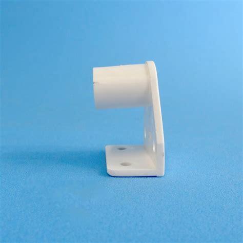 white curtain pole brackets caravansplus curtain rod holder muslin bracket white