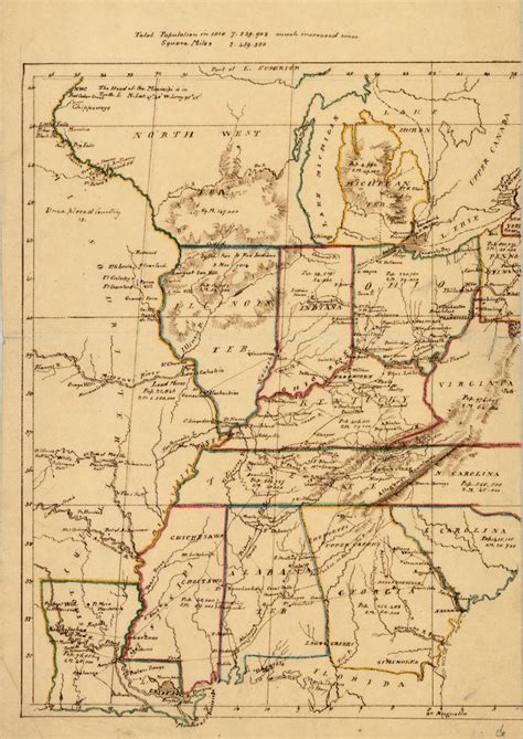 map missouri and kentucky untitled manuscript map of part of us including missouri