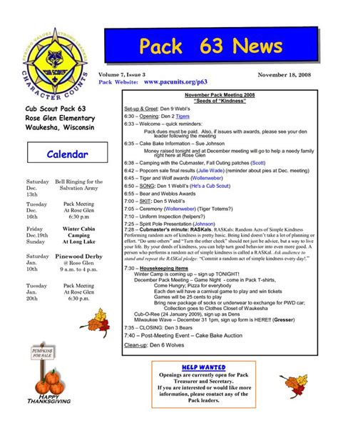 boy scout newsletter template 23 best images about scouts on newsletter
