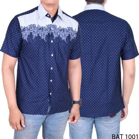 Kemeja Pria Batik Bat 790 kemeja batik casual pria lengan pendek katun biru dongker bat 1001 gudang fashion