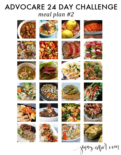24 Day Detox Advocare by Advocare 24 Day Challenge Recipes Advocare Meal Plan
