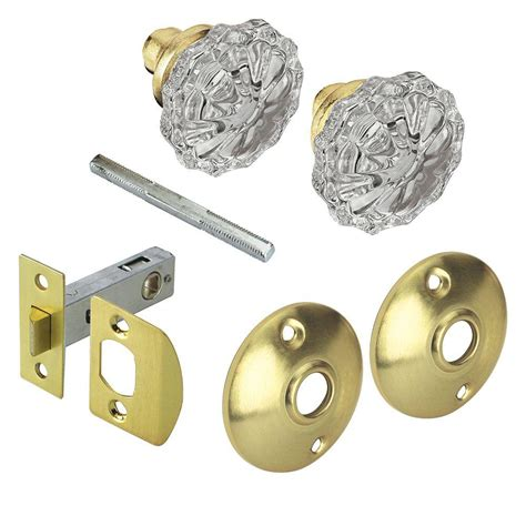 Defiant Door Knobs Reviews defiant 2 in satin brass glass knob passage set 70402 the home depot