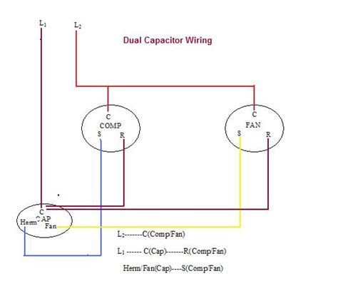 ac dual capacitor wiring diagram wiring diagram with