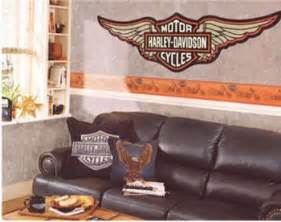 Harley Davidson Wall Stickers Harley Davidson Wallpaper Borders Wall Decals And Murals
