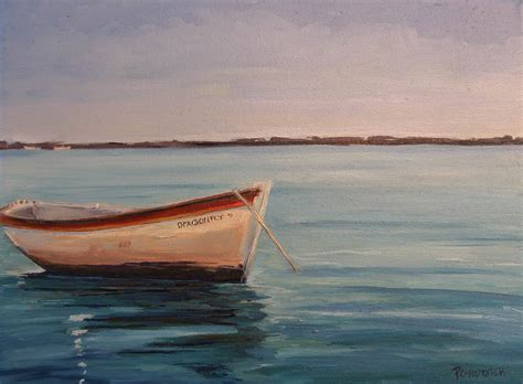 boat oil painting fishing boat in rehoboth bay oil painting dianna