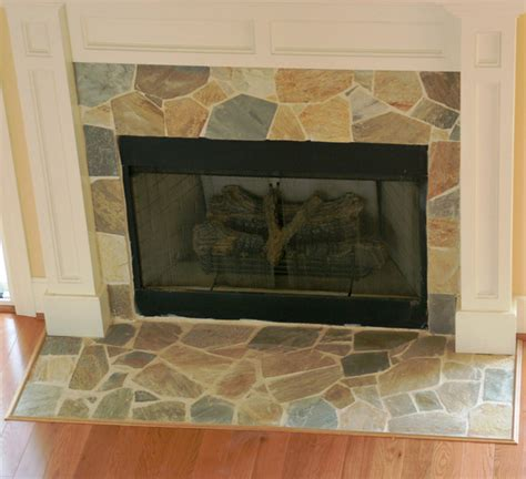 flagstone fireplace light color stone fireplace traditional living room