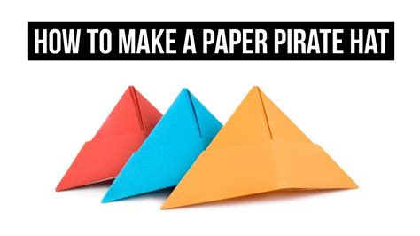 origami pirate hat how to make a paper pirate hat easy