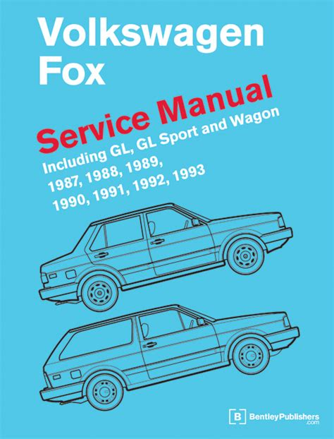 front cover vw volkswagen fox service manual 1987 1993 bentley publishers repair