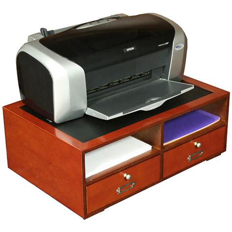 Printer Table With Drawers by Deluxe Two Drawer Printer Stand Cherry In Computer