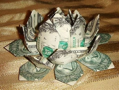 Origami Dollar Bill Flower - money origami flower edition 10 different ways to fold a