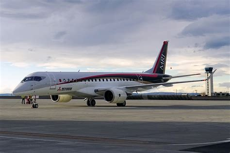 the mitsubishi regional jet starts flight tests in the