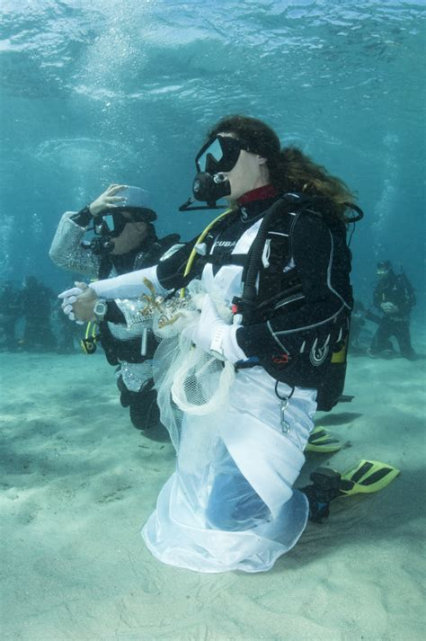 Wedding Underwater by Underwater Weddings In Sardinia 201 Lite Diving Agency