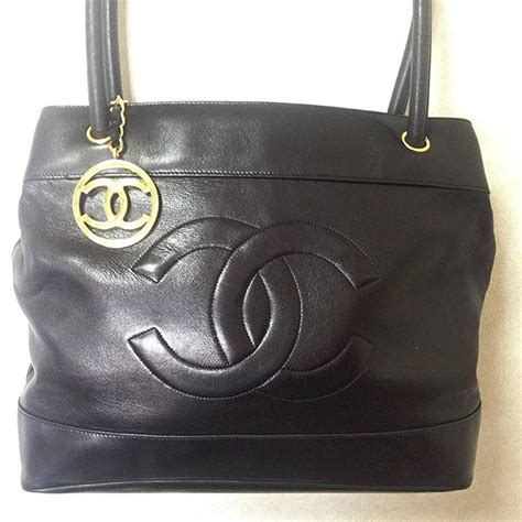 Tote Bag Cc vintage chanel black classic tote bag in nappa leather with gold tone cc charm for sale at 1stdibs