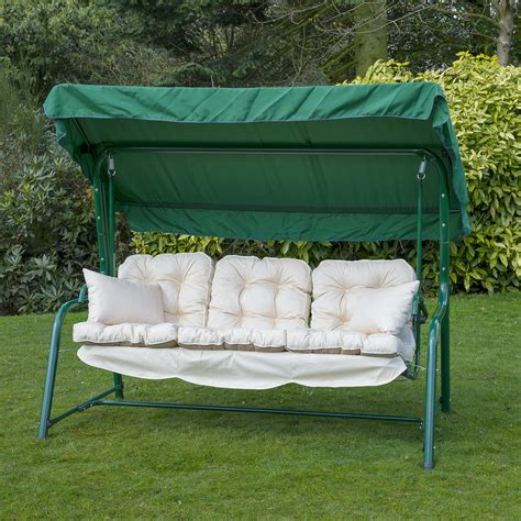 swing cushions 3 seat canopy swing replacement cushions home and garden