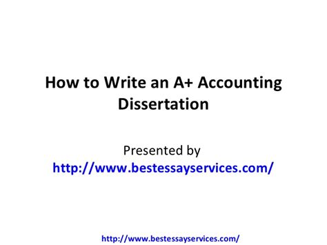 dissertation topics in accounting accounting dissertation