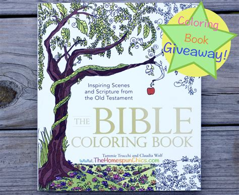 Book Giveaways 2016 - the bible coloring book giveaway ends 5 28 the homespun chics