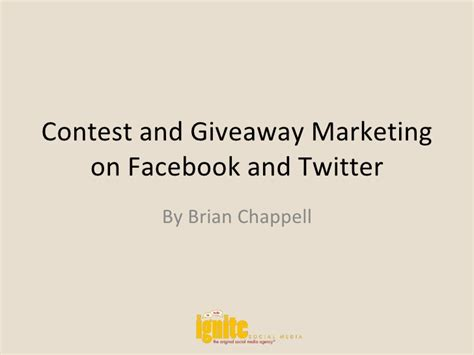Giveaway Advertising - contest and giveaway marketing on facebook and twitter