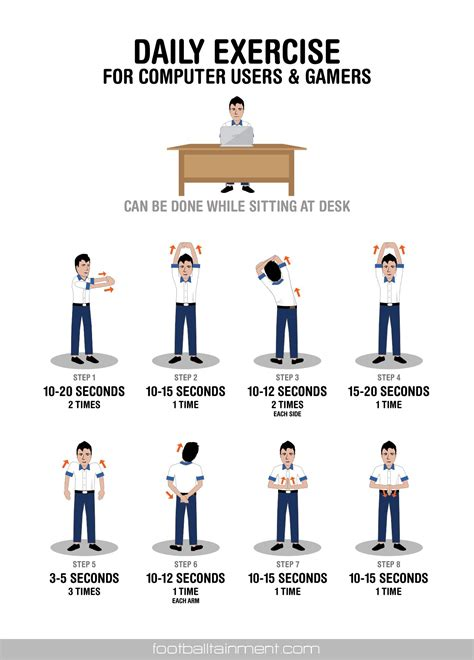 desk exercises at work work desk daily exercise for gamers and computer which can