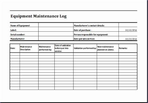 maintenance schedule template microsoft autos post
