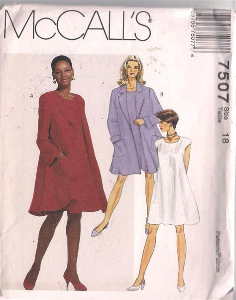 pattern for a line coat swing a line dress coat woman sewing pattern sz 18