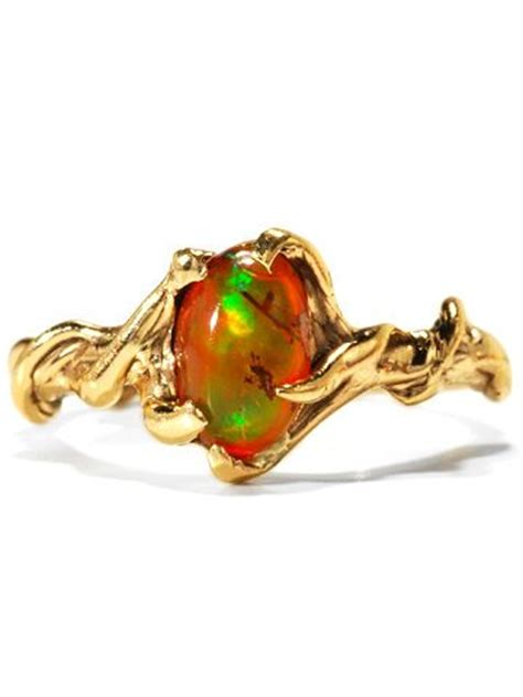 mexican fire opal modernist mexican fire opal ring