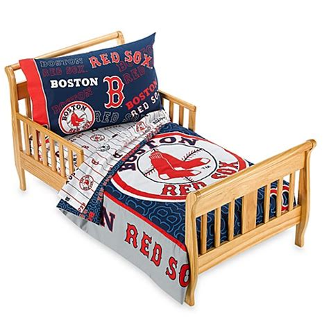 Boston Red Sox 4 Piece Toddler Bedding By The Major League Boston Sox Crib Bedding