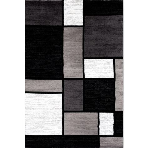 Gray Area Rugs Contemporary World Rug Gallery Contemporary Modern Boxes Gray 7 Ft 10 In X 10 Ft 2 In Indoor Area Rug 106