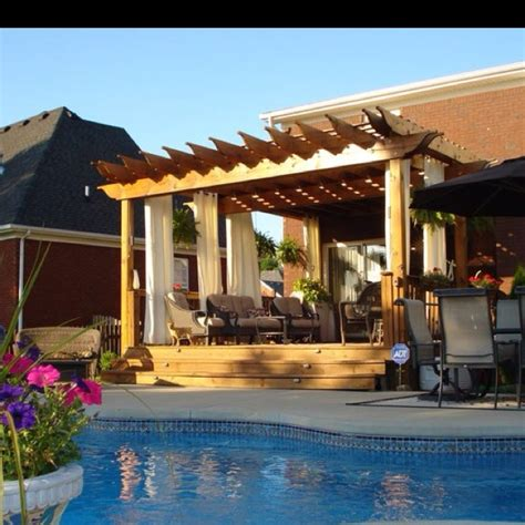 Pergola By Pool Dream House Pinterest Pool Pergola Designs