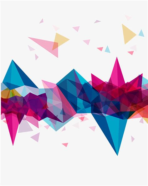 pattern color triangular color decorative pattern color clipart