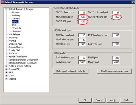 smtp port 465 smtp port 25 access denied zen software