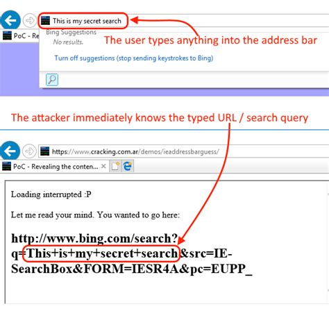 Explorer Search From Address Bar Explorer Bug Leaks Whatever You Type In The Address Bar
