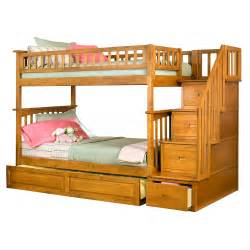 bunk bed with trundle and stairs click to enlarge
