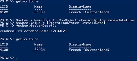 format date shell get the main information from windows server with