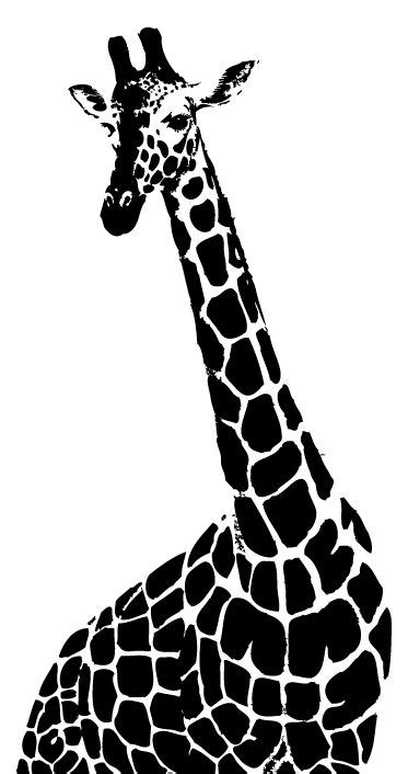 imagenes animadas en blanco y negro ilustraci 243 n gratis girafa con cuello largo en blanco y