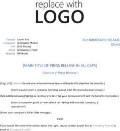 Press Release Template Pdf by Press Release Template For Excel Pdf And Word