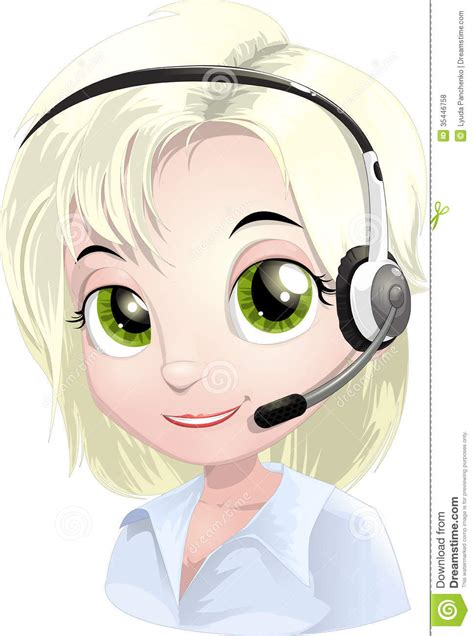 help desk support specialist free help desk stock vector illustration of avatar line