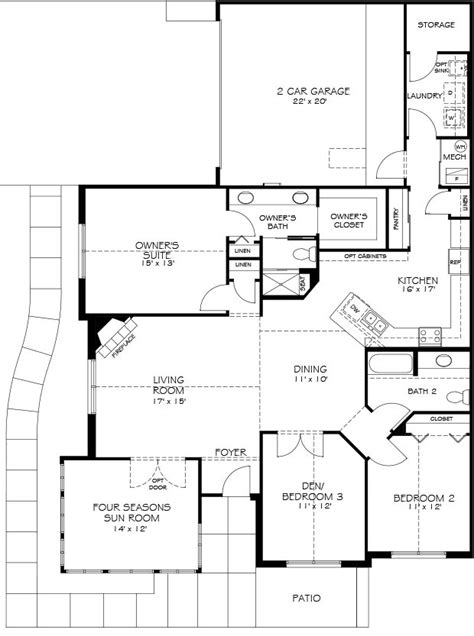 epcon canterbury floor plan models wellington place epcon communities