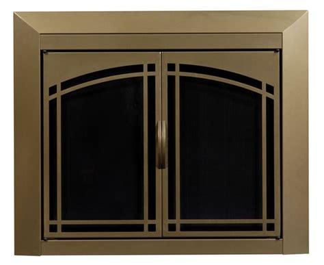 fairmont antique brass fireplace doors medium