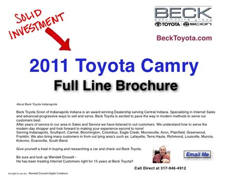 Beck Toyota Indianapolis Beck Toyota Indianapolis 2011 Toyota Camry