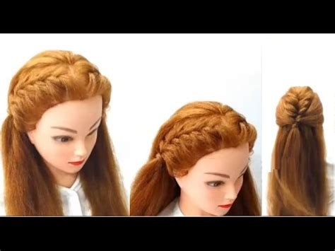 front braids hairstyles how to how to make front braids easy hairstyles youtube